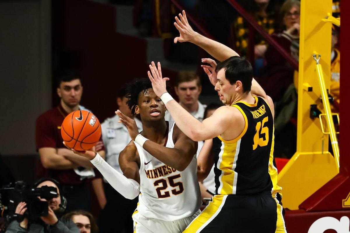 NCAA Basketball: Iowa at Minnesota
