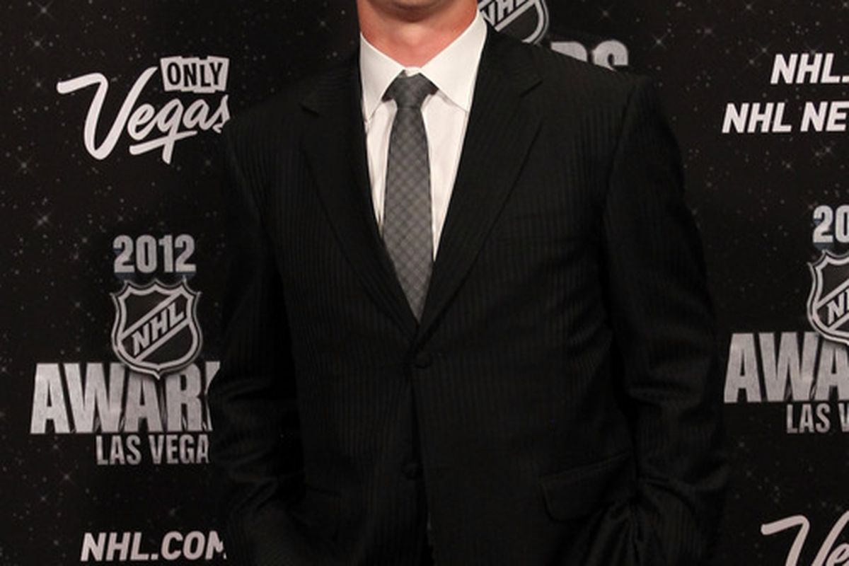 LAS VEGAS, NV - JUNE 20: Shane Doan of the Phoenix Coyotes arrives before the 2012 NHL Awards at the Encore Theater at the Wynn Las Vegas on June 20, 2012 in Las Vegas, Nevada.  (Photo by Bruce Bennett/Getty Images)