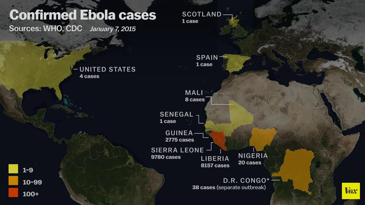 ebola cases worldwide jan 13
