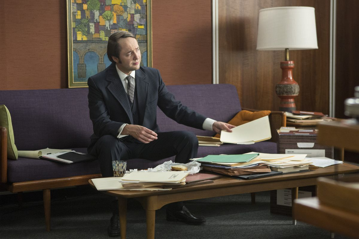 Whatever happens in the final six episodes, it probably won't involve Pete Campbell's (Vincent Kartheiser) death, because Pete sure seems like he could be immortal, right?