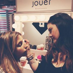 Arrived before Birchbox Local opened and made time for a quick makeup application from Jouer.
