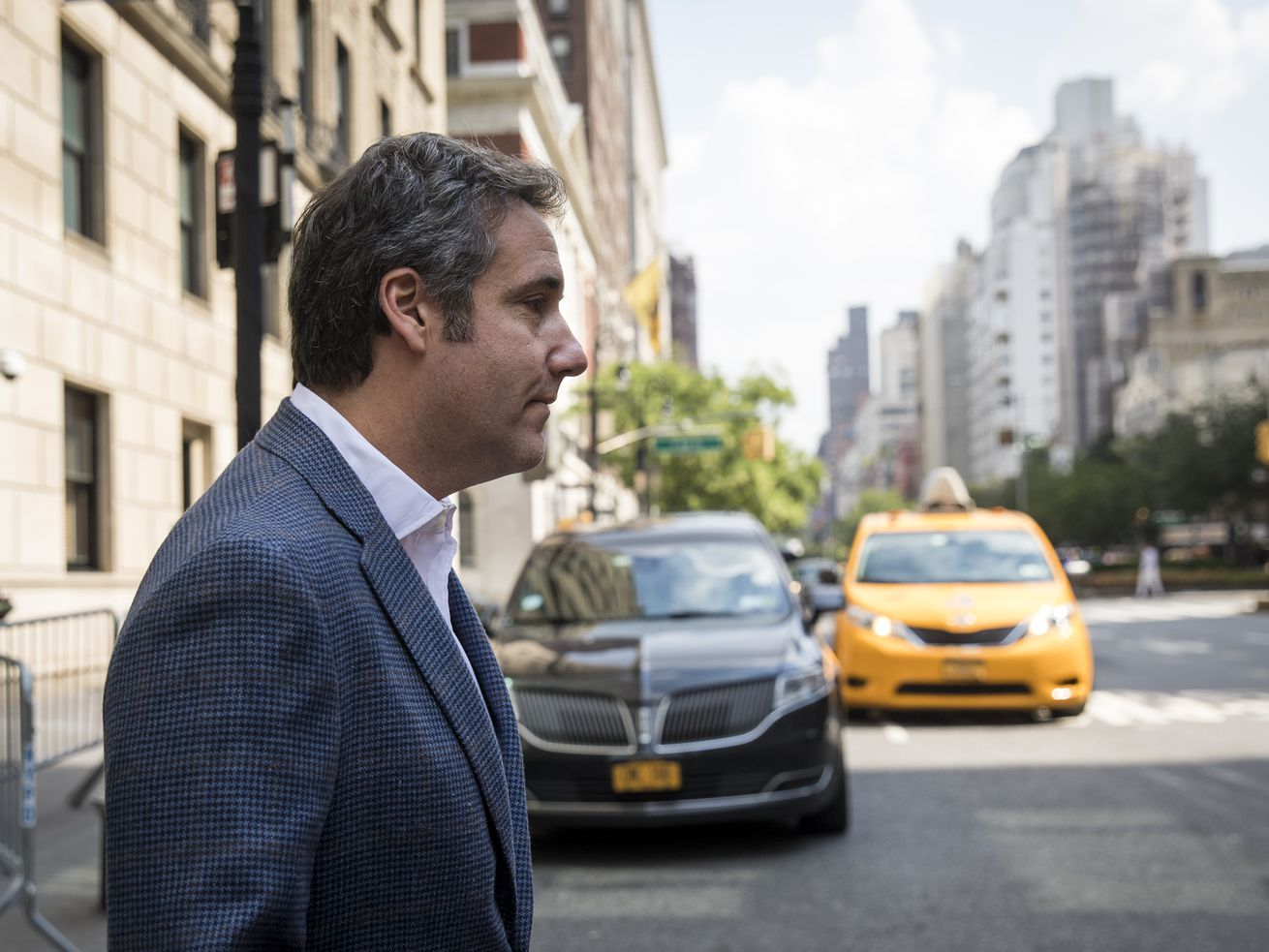Michael Cohen, former personal attorney for President Donald Trump, exits the Loews Regency Hotel on July 27, 2018, in New York City.