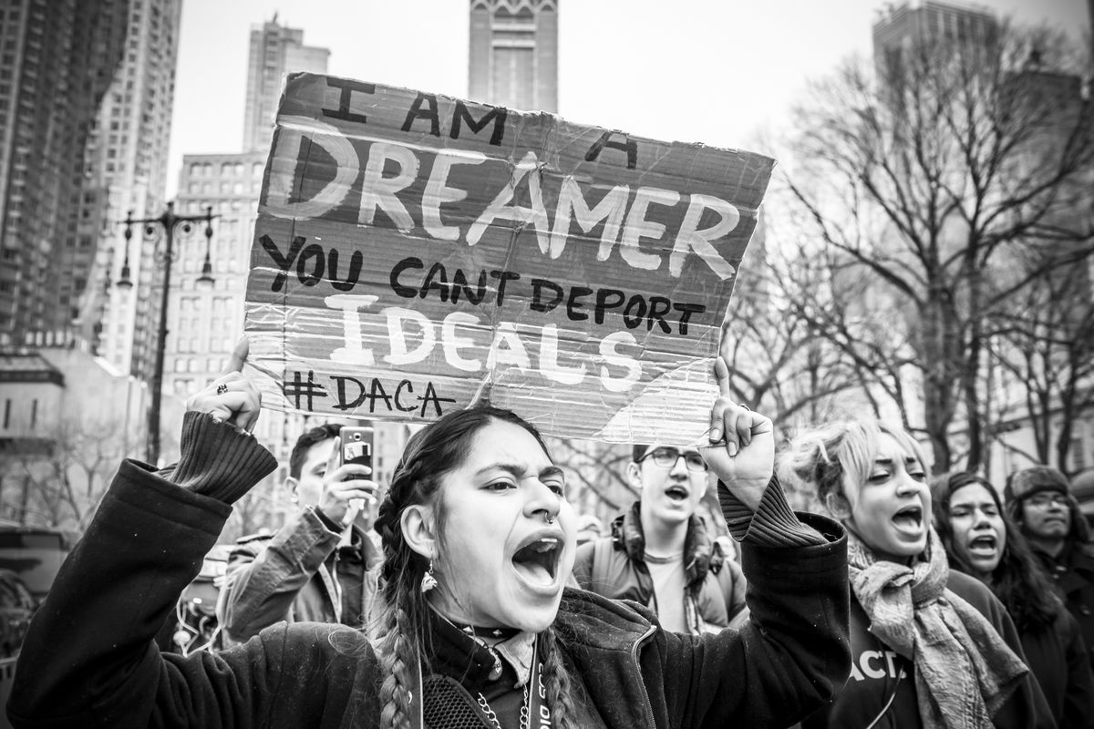 Dream Act supporters in New York City on February 15, 2018.
