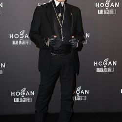 Karl Lagerfeld attends the Hogan by Karl Lagerfeld cocktail party during Paris Fashion Week Fall/Winter 2012 on March 4, 2011 in Paris, France.