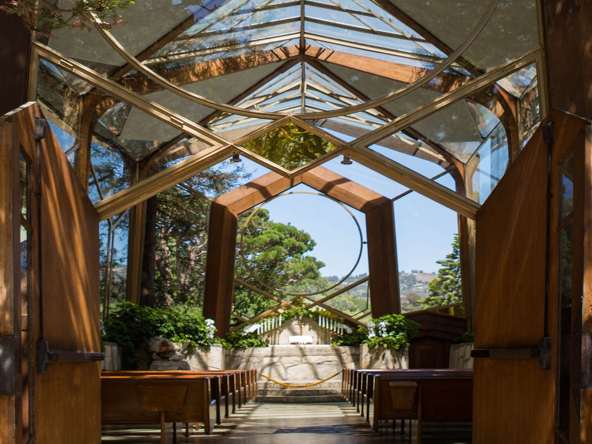 The los angeles wedding venues map wayfarers chapel by elizabeth daniels junglespirit