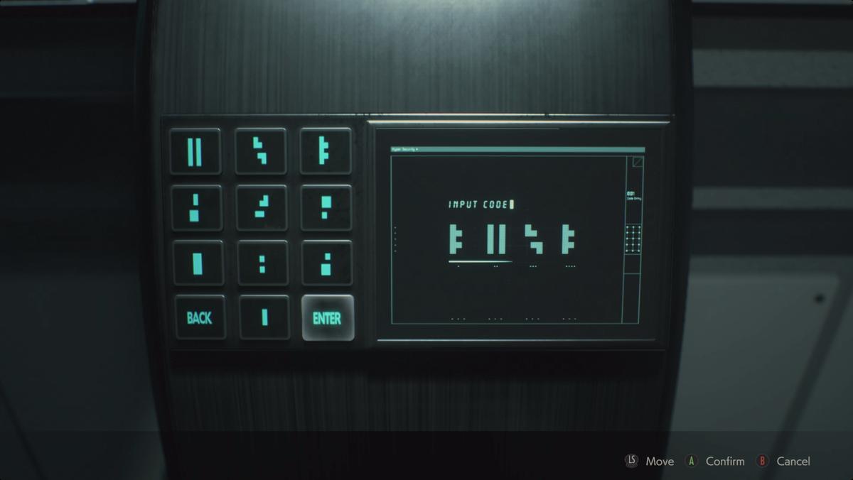Resident Evil 2Greenhouse hatch code