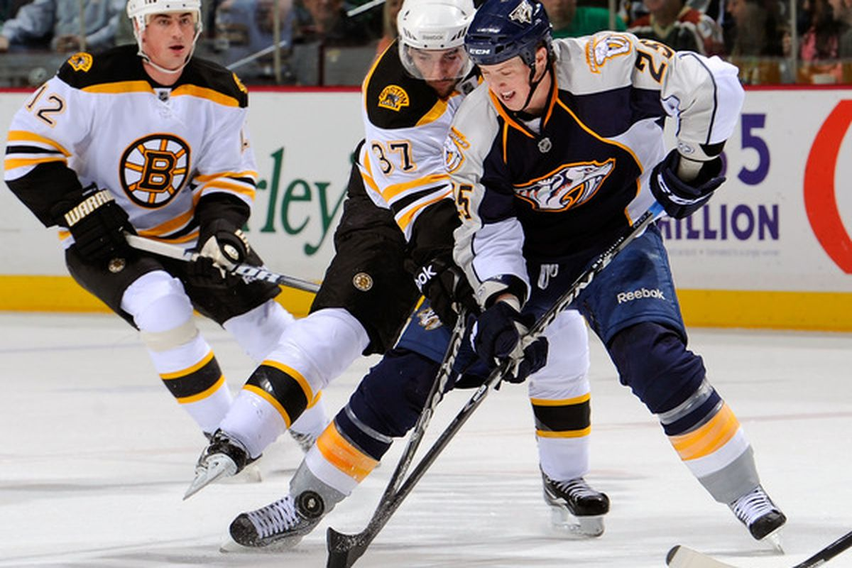 Last time the Bruins faced the Preds was 3/17/11.