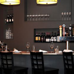 The bar serves several local taps and the unique wine list is expertly selected.