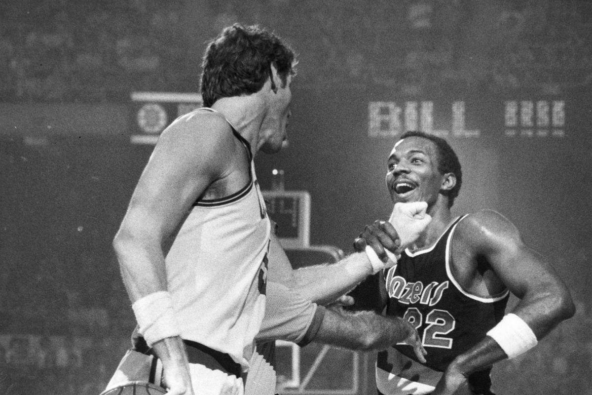 Portland Trail Blazers Vs. Boston Celtics At Boston Garden