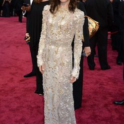 Sally Hawkins from <em>Blue Jasmine</em> wears Valentino, found at the Shops at Crystals.