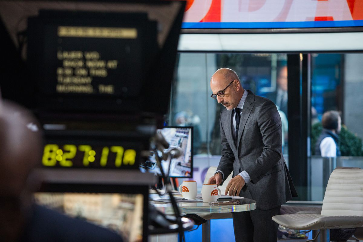 TODAY -- Pictured: Matt Lauer on Tuesday, November 21, 2017 -- (Photo by: Nathan Congleton/NBC/NBCU Photo Bank via Getty Images)