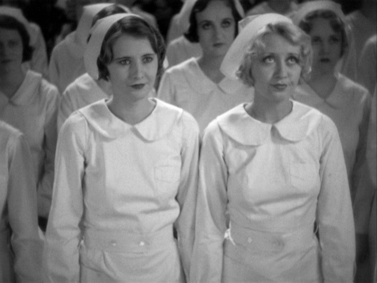 Joan BlondellandBarbara StanwyckinNight Nurse (1931)