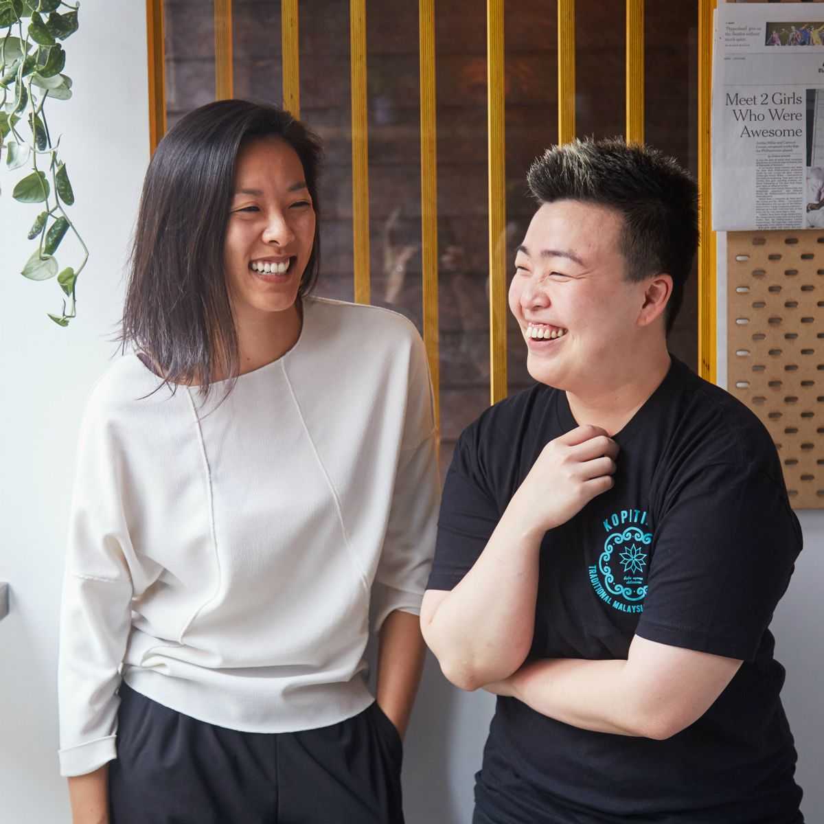Kopitiam chef-owner Kyo Pang with co-owner Moonlynn Tsai