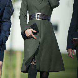 In a Reiss coat at St George's Park in England on October 9th, 2012.