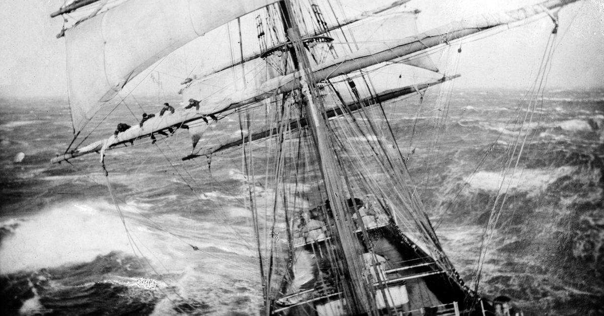 Through both sunny days and torrential storms, sailors cutting through the waters around New Zealand and Antarctica faithfully recorded the weather th