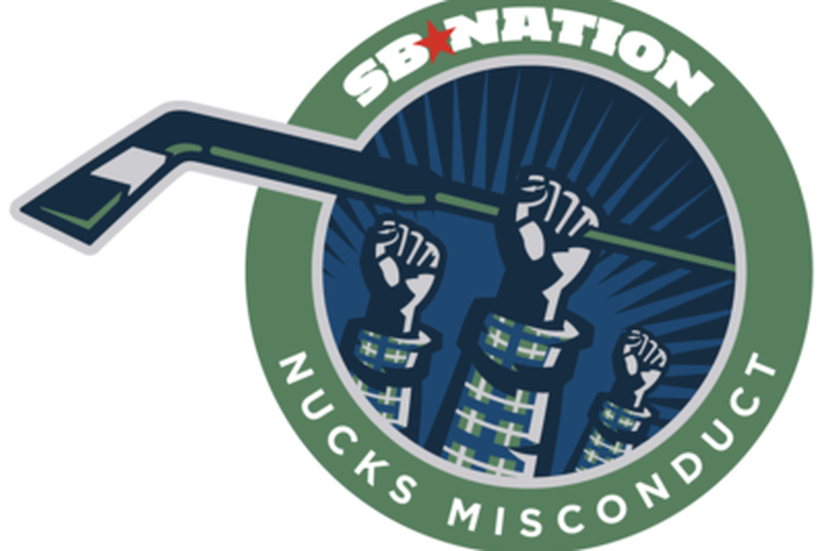 Nucks Misconduct's new logo...  Yes, we feel shame in comparison with ours.