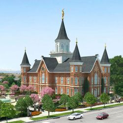 An artist's rendering of the Provo City Center Temple.