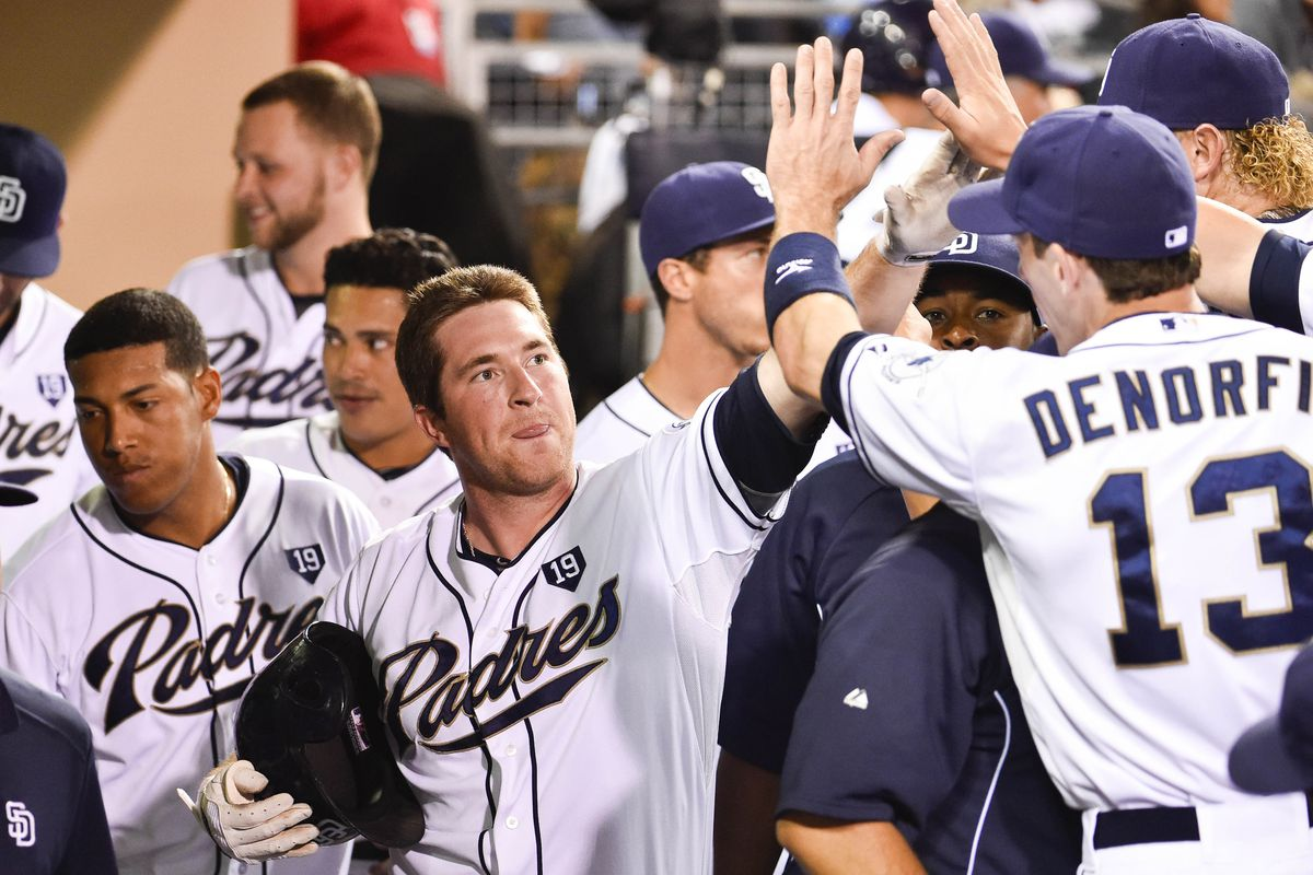 There are fewer Padres in this photo than Padres runs.
