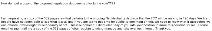 fcc net neutrality foia