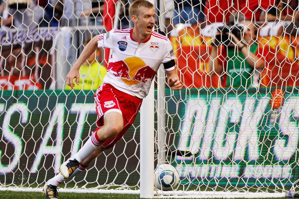 New York Red Bulls center back Tim Ream didn't have luck against the likes of Teal Bunbury, etc in 2011. The solution? Having Ream try to defend against players like Robin Van Persie. (Photo by Mike Stobe/Getty Images for New York Red Bulls)