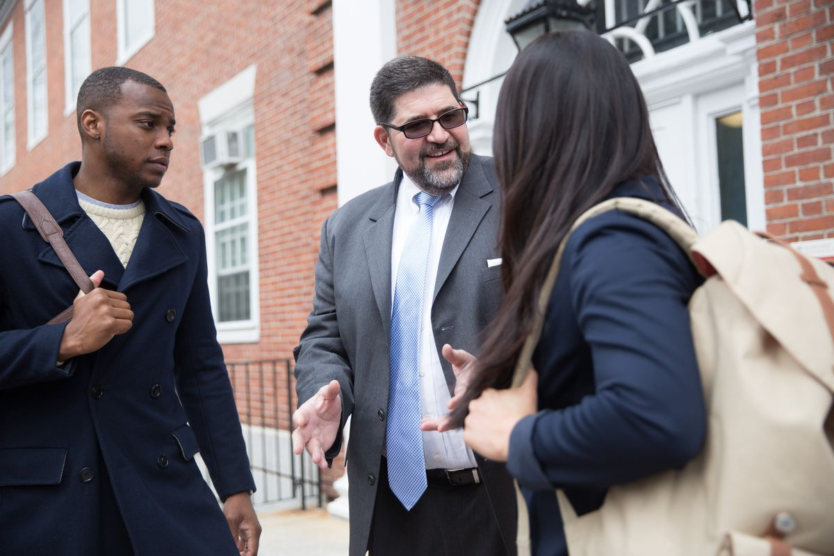 Andres Alonso (center). Photo courtesy of the Harvard Graduate School of Education.