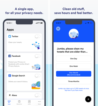 Jumbo is a powerful privacy assistant for iOS that cleans up your social profiles