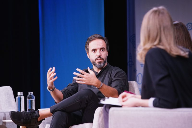 Jose Neves, the founder of Farfetch, onstage.