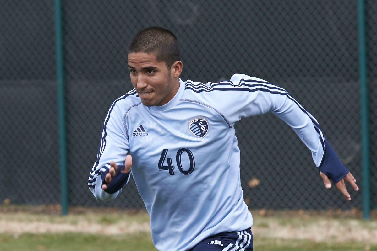 Igor Julião practicing with Sporting KC