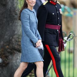 In an M Missoni coat and Rachel Trevor Morgan hat during a visit to Vernon Park for the Queen's Jubilee on June 13th, 2012.