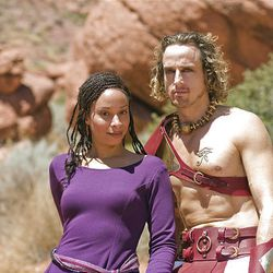 "Jacqueline Rene stars as Aida and Josh Adamson as Radames in ""Aida"" at Tuacahn."