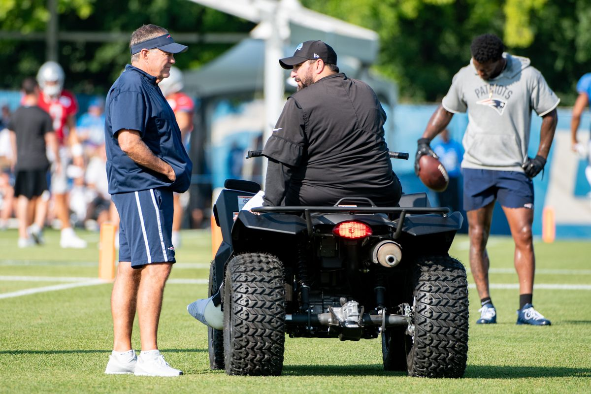 NFL: AUG 05 Lions-Patriots Joint Training Camp