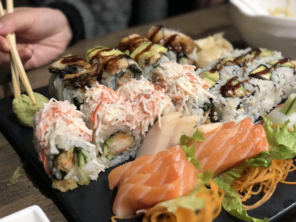 A variety of sushi at Sushi Factory