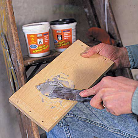 Mixing Epoxy Sealer With Putty Knife
