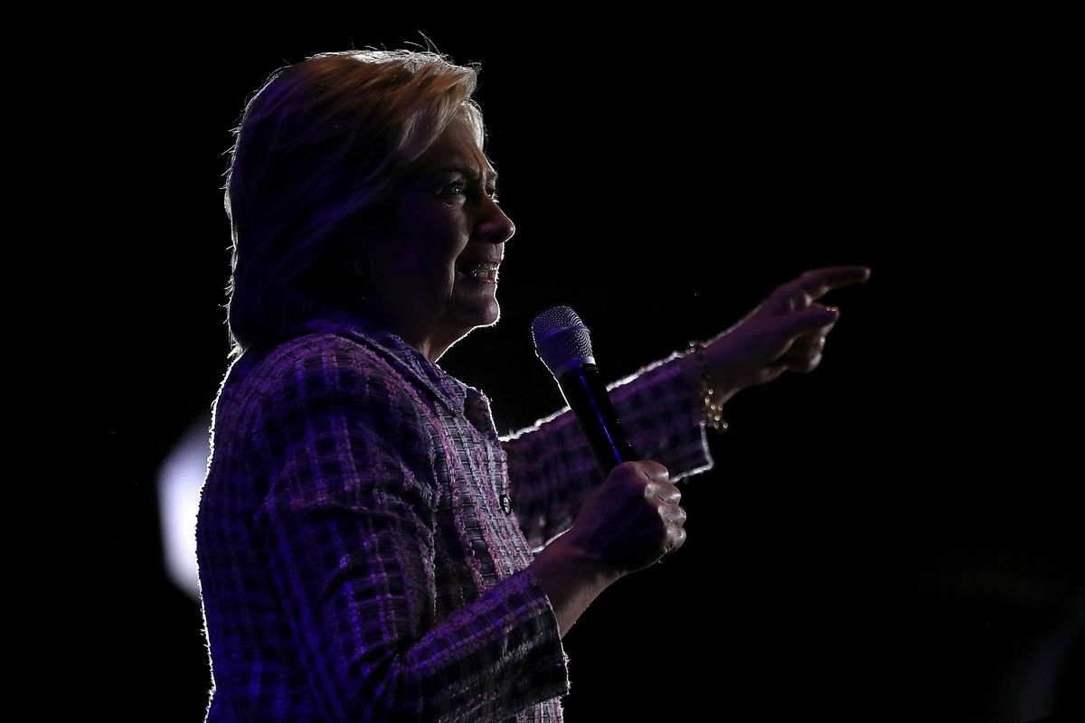 Hillary Clinton Campaigns At Democratic Party Organizing Event In NC