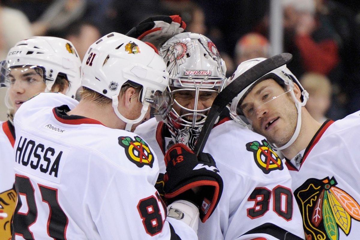 There are goalie nuzzles, and then there is this...