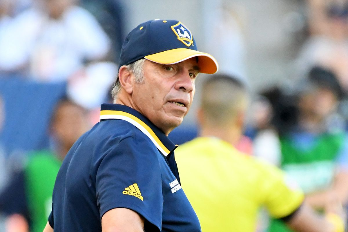 Bruce Arena looks on in LA Galaxy's 4-2 loss to the Seattle Sounders.