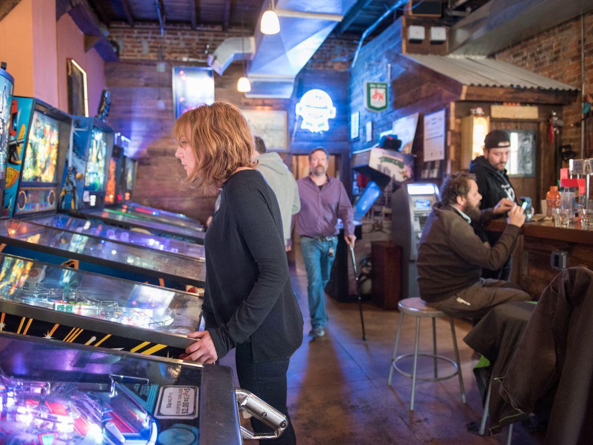 Pinball and arcade games at Lyman's Tavern