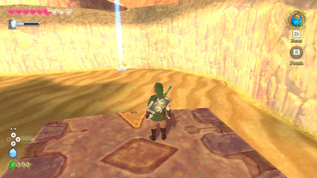 A sandy desert in The Legend of Zelda: Skyward Sword HD