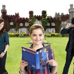"Kellie Martin, left, Kiernan Shipka and Simon Kassianides star in the Hallmark Channel's fairy tale ""Smooch."""