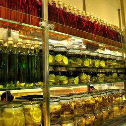 Jars at Bacchanal Buffet.