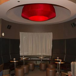 The private booth in the bar at Gordon Ramsay Steak.