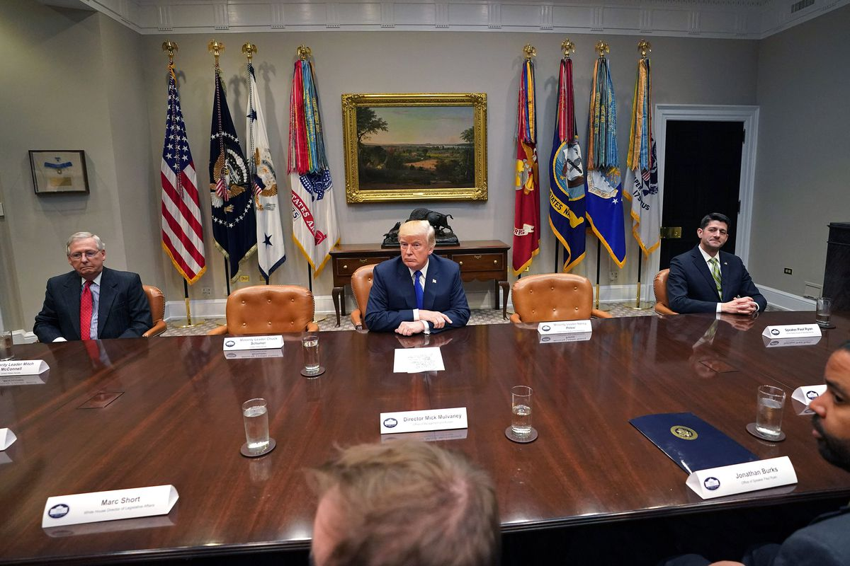 President Trump Meets With Congressional Leadership At The White House