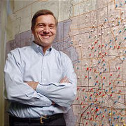 Rep. Jim Matheson stands beside a campaign map in his office last week. He has seen Utah politics up-close since 1976.