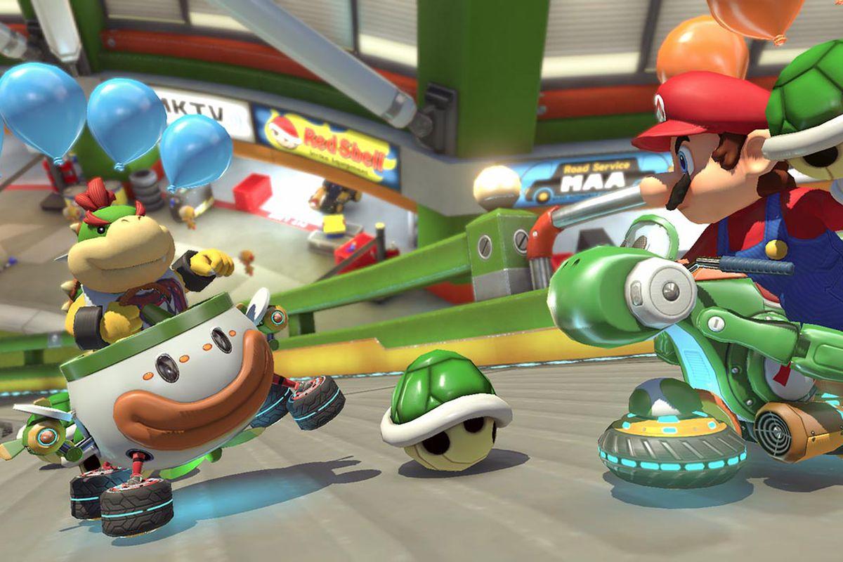 Battle Mode in Mario Kart