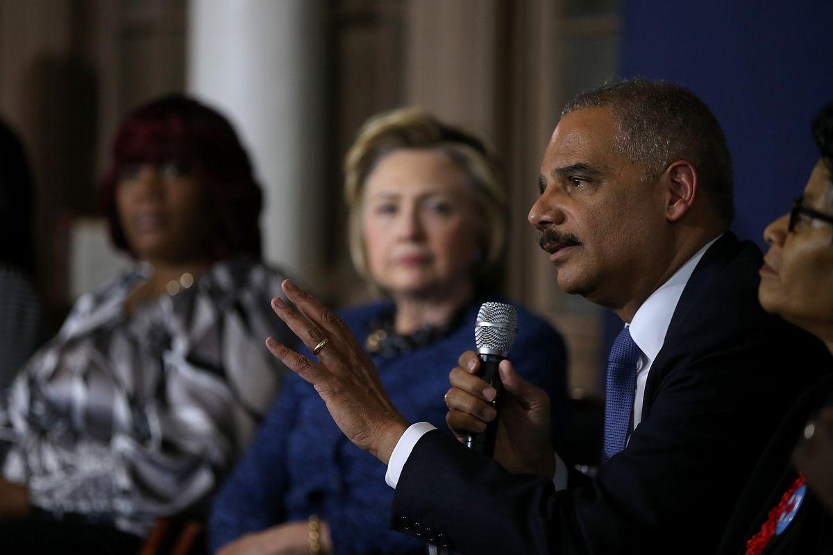 Democratic Presidential Candidate Hillary Clinton Campaigns In Philadelphia