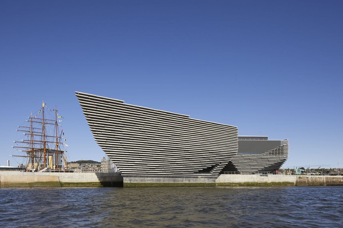 V&A Dundee museum exterior with concrete panels