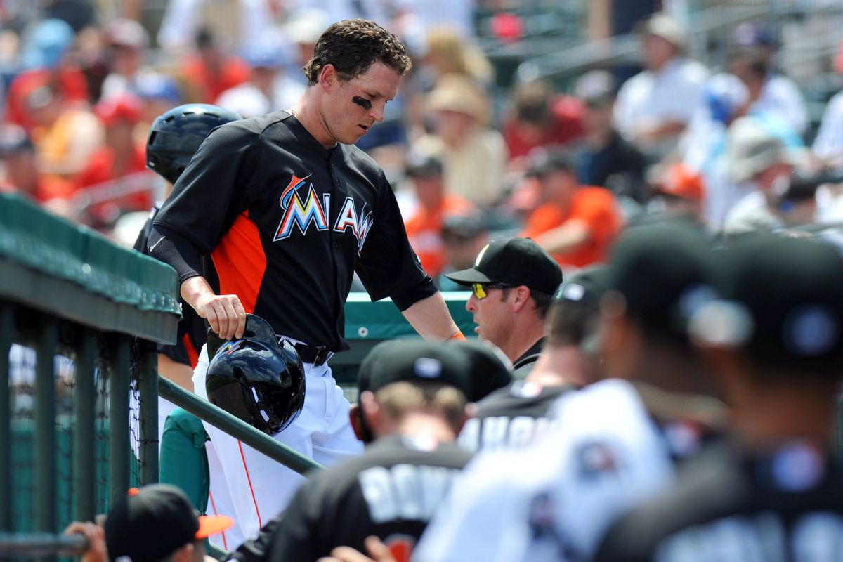 Should Chris Coghlan be spending more time in the dugout than out on the field for the Miami Marlins?
