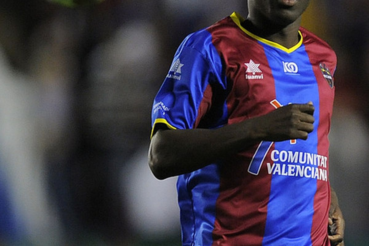 Arouna Kone of Levante the latest striker to be linked with Sunderland (Photo by David Ramos/Getty Images)