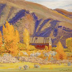 """October in Morgan"" by LeConte Stewart."