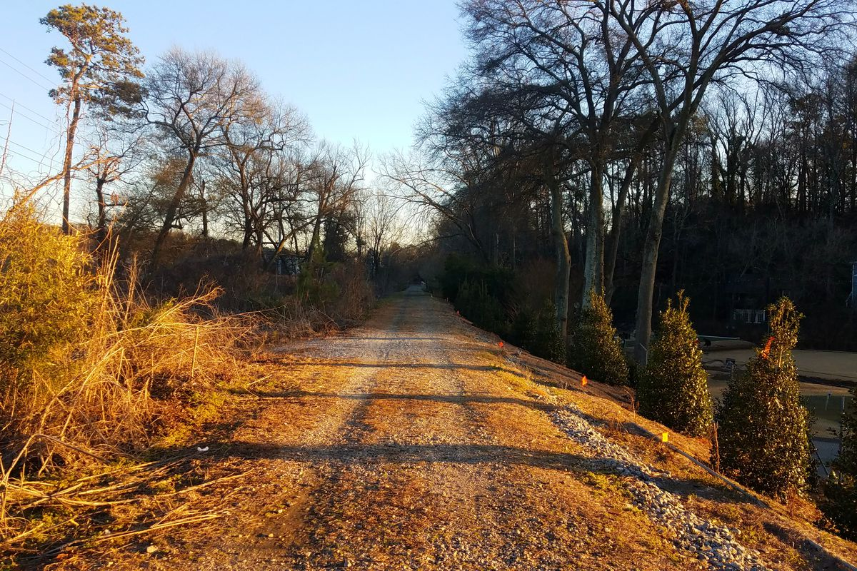 A January photo of the dirt trail set to become the Beltline.
